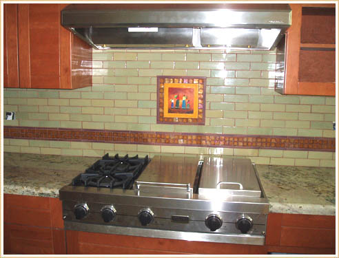 Spanish Tile Backsplash